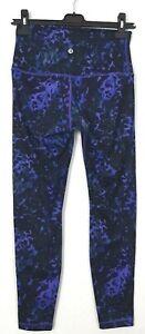 Lululemon Wunder Under Size 6 High Waist Roll Down Floral Sport Print Pant 7/8