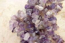 Amethyst Gemstone Chip Nugget Bead 5-8mm appx 85cm Long Strand Craft Purple UK