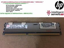 HP 16GB (1x16GB) Quad Rank x4 PC3-8500 (DDR3-1066) - * 593915-B21 *