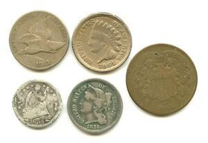 Lot of (5) Type Coins