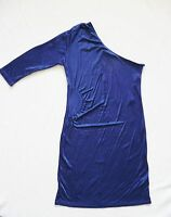 BNWT NEXT NEW ladies one shoulder navy BODYCON stretch mini Dress size 14 party
