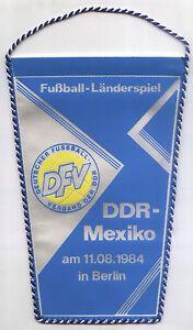 Wimpel 11.08.1984 DDR - Mexiko in Berlin