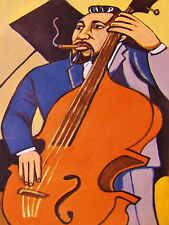 CHARLES MINGUS PRINT poster cigar jazz bass ah um black saint pithecanthropus