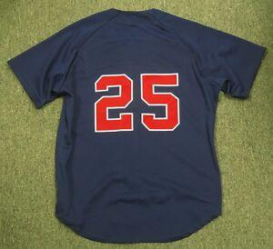 Atlanta Braves Team Issued #25 Baseball Jersey Size 46