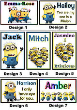 Personalised Minion Fridge Magnet - With a Name or Message - Gift Idea - 7x5cm