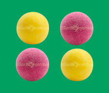 4 Foosballs: 2 Red Textured & 2 Yellow Textured Table Soccer Balls
