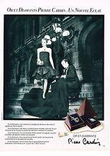 PUBLICITE  1982   PIERRE CARDIN   OR & DIAMANTS  collection bijoux