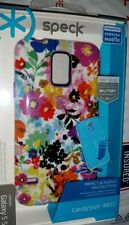 NEW Speck CandyShell Inked Samsung Galaxy S5 Case Purple / White (+Temp Glass)
