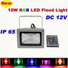 DC12V 10W RGB LED Flood Spot Light Lamp Outdoor Waterproof Pool Yard + Remote