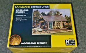 Woodland Scenics N Scale Woodland Station Kit. NIB