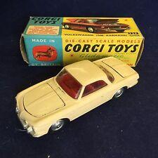 Vintage Corgi Toys No. 239 Volkswagen 1500 Karmann Ghia Cream Boxed