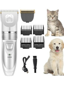 Dog Shaver Clippers Low Noise Rechargeable,Hair Clipper for Dogs Cats Pets