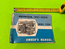 1970 Honda Model E1500 Portable Generator Owner Manual E 1500