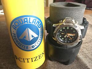 Citizen Aqualand Promaster VINTAGE Marine Armbanduhr Herren AL0004-03W Wie NEU