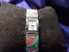 Woman's Victora Wieck Watch with Enameled Band **Nice** B57-1109