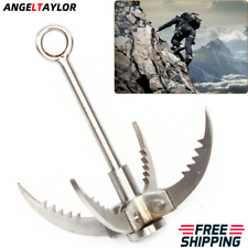 Folding Grappling Hook   Outdoor Stainless Steel Climbing Claw Hook 4-Claws NEW