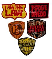 judge dredd psi division i am the law iron on patch embroidered title logo