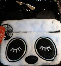 Wonder Nation Sequin Panda School Backpack Book Bag Black/White Nwt