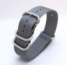 Grey Nylon Nato style watch strap - 20mm - suit Seiko/Omega/Rolex