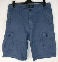 American Eagle Longboard Mens Cargo Combat Shorts Dusky Blue 36 inch Waist