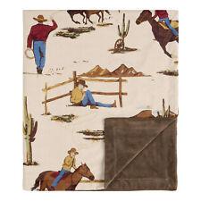 Sweet Jojo Tan Red Cowboy Wild West Baby Boy Receiving Security Swaddle Blanket