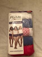 NWT Women's Fruit Of The Loom Fit For Me 5 Cotton Briefs Plus Size 12