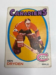 1971-72 O.P.C. O-Pee-Chee KEN DRYDEN ROOKIE CARD #45 Montreal Canadiens