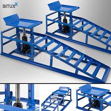 Bituxx 2x Auffahrrampen Auto mit hydraulischen Wagenheber 2T 2000kg Tragkraft