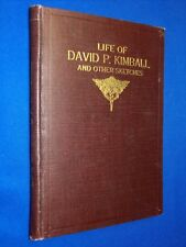 1918 Life of David P. Kimball Other Sketches 1st Ed Hardcover LDS Mormon Heber C