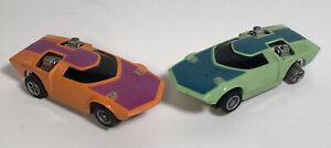 Lot Of 2 Hot Wheels Afx Aurora Twin Mill Slot Car