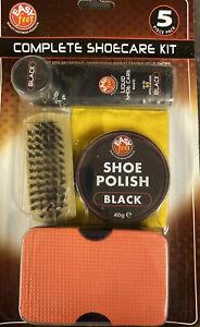 5 Piece Shoe Care Black Polish Kit