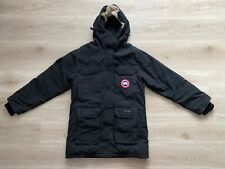 Canada Goose Expedition 4565L Down Fur Arctic Black Parka Coat Size Medium Large