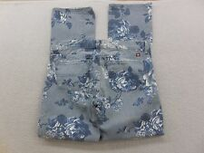 New Lucky Brand Womens Floral Rose Print Skinny Ankle Denim Jeans Size 6/28 X 28