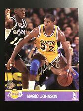 Hand Signed Magic Johnson Auto GOAT LA Lakers Photo With COA