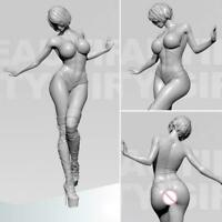 YUFAN 1/35 Sexy Beautiful Girl Resin Soldier Model Unpainted White DIY O7E8