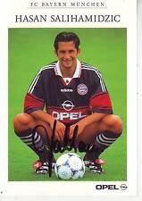 FOOTBALL carte joueur HASAN SALIHAMIDZIC équipe FC BAYERN DE MUNICH signée