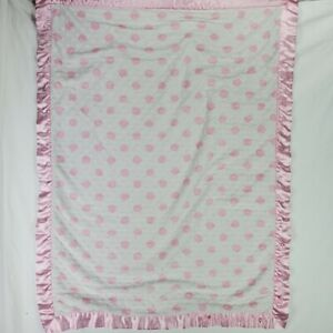 Carter's Just One Year Pink Polka Dot Blanket Thank Heaven for Little Girls