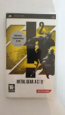 Metal Gear Acid 2 pour PSP jeu video
