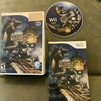 Nintendo Wii Game: Monster Hunter Tri 3 (Complete with case and manual) 2010 CIB