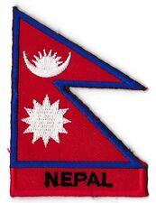 Écusson patch patche NEPAL Népal 70 x 45 mm Pays du monde drapeaux brodé