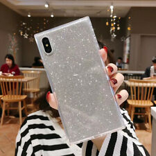 Para iPhone 8 Plus Xr Xs Max ultra delgada suave TPU Cuadrado BLING Glitter Funda