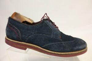 TED BAKER LONDON Archer Blue Sz 10 M Men Suede Wingtip Derby Dress Shoes
