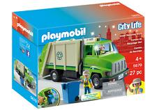Playmobil 5679 Green Recycling Truck MIB / New