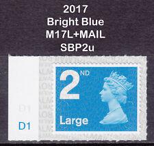 2017 Machin 2nd Class Large Bright Blue SG U3000 M17L+MAIL D1 Cylinder SBP2u