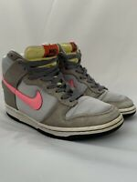 NIKE Dunk Hi Premium High-top sneakers Women's Grey Pink 317814-061 Size US 7