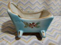 Vintage Shafer 23k gold figurine crib baby cradle