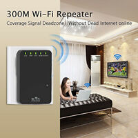 3in1 300Mbps WiFi Extender Signal Booster Repeater Router W/ 2 Ethernet Port&WPS
