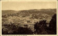 Triest Trieste Italien Italia Friaul-Julisch Venetien AK ~1925 Panorama Montuzza