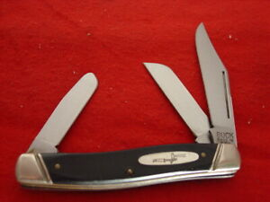 """RARE ORIGINAL Buck USA Schrade Made 301 4"""" 3 Blade Stockman Stock Knife"""
