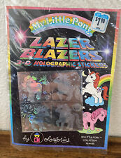 Vintage 1983 My Little Pony Lazer Blazers 3d stickers by Colorforms NEW